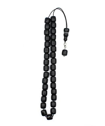 Μαύρο πλαστικό κομπολόι